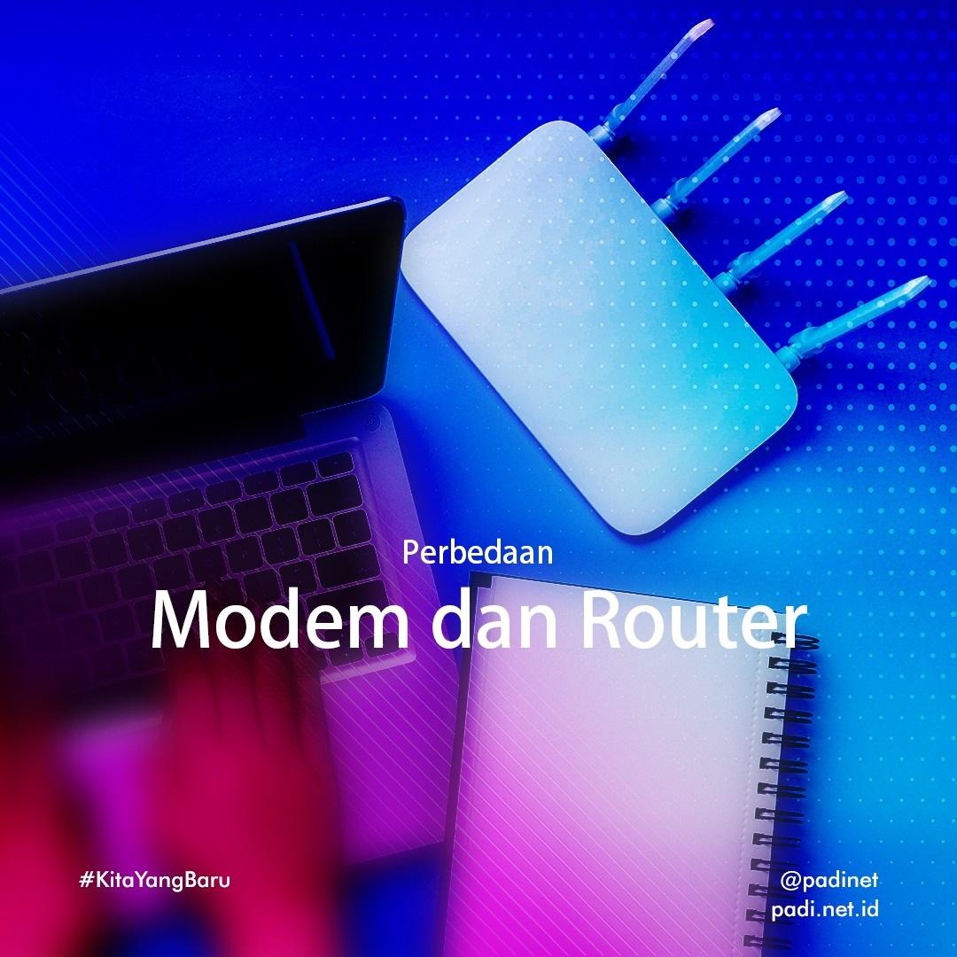 perbedaan modem dan router