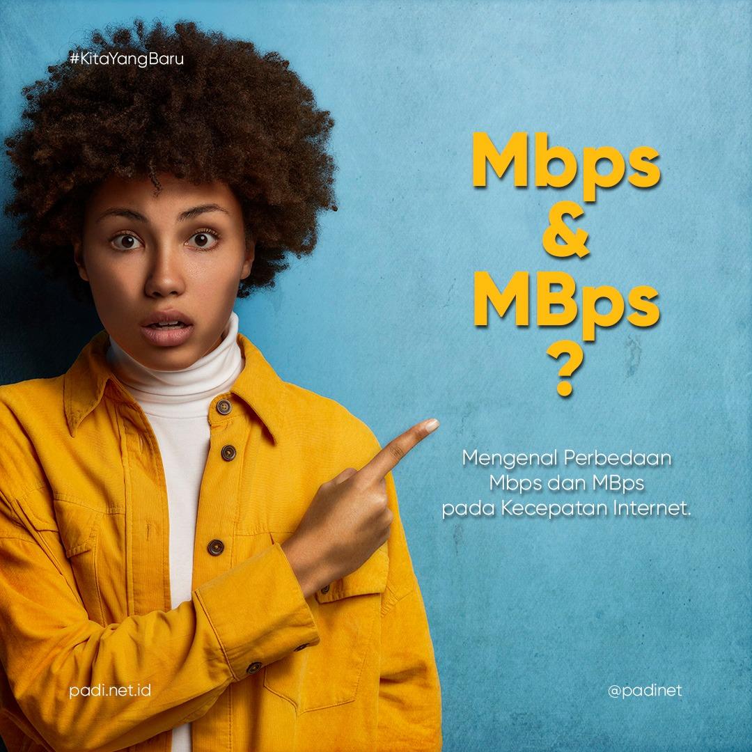 kecepatan internet Mbps MBps